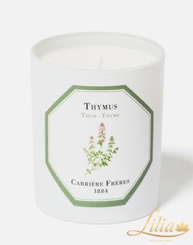 LUXURY AROMATIC CANDLE CARRIÈRE FRÈRE THYMUS